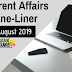 Current Affairs One-Liner: 11th August 2019