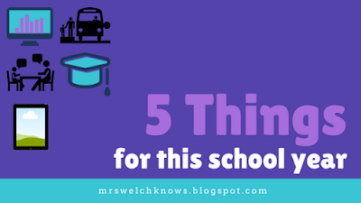 Five Things for this School Year