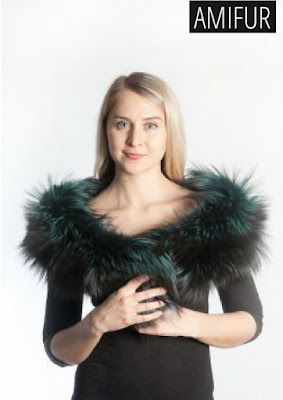 Green Fox Fur Scarves
