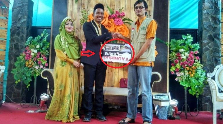 SUBHANALLAH..!! Pengantin di Kediri Sumbangkan Semua Hadiah Pernikahan untuk Rohingya