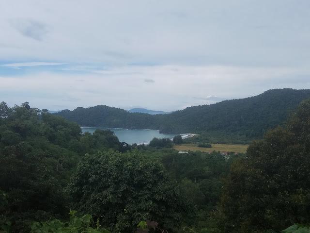 Pemandangan Laut Aceh saat menuju Suhom