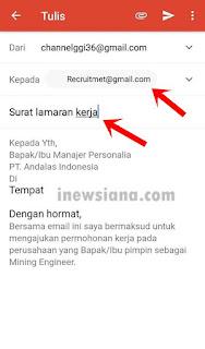 Cara membuat lamaran kerja lewat email