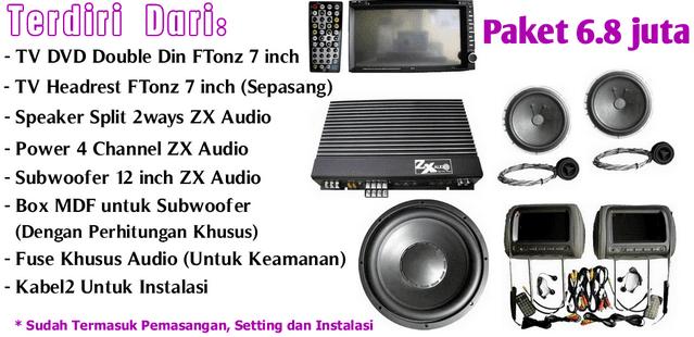 Paket Audio Mobil Murah Berkualitas