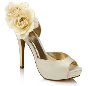 48731bb1b the white wedding shoe will stand out too much but the ivory wedding shoe  will be