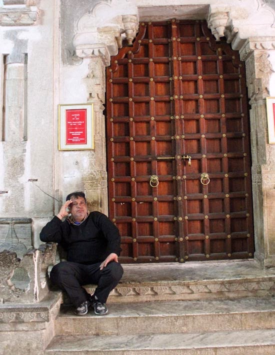 Tourist and Palace door