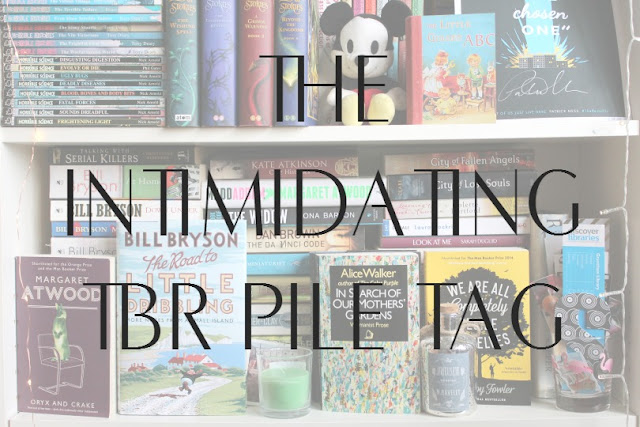 Intimidating TBR Pile Tag Book Bloggers