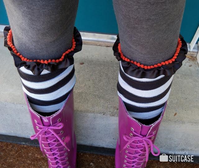 spooky boot socks