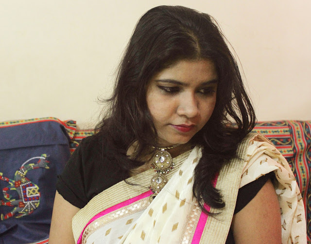 Contemporary Saree Style-OOTD Ft.Triveni