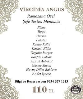 virginia angus istanbul ramazan 2019 iftar menü fiyat nişantaşı iftar mekanları eminönü iftar yerleri