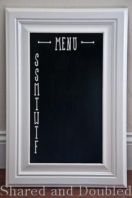 Cabinet Door Menu Board