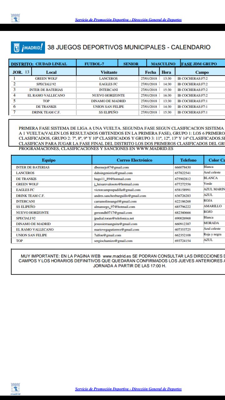 38 Juegos Deportivos Municipales Calendario.La Gaceta Del Dinamo De Madrid Octubre 2017