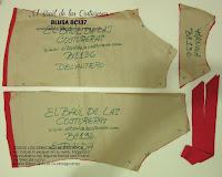 molde de costura gratis imprimir y descargar Blusa BC137 Baúl Costureras. Corte de la tela