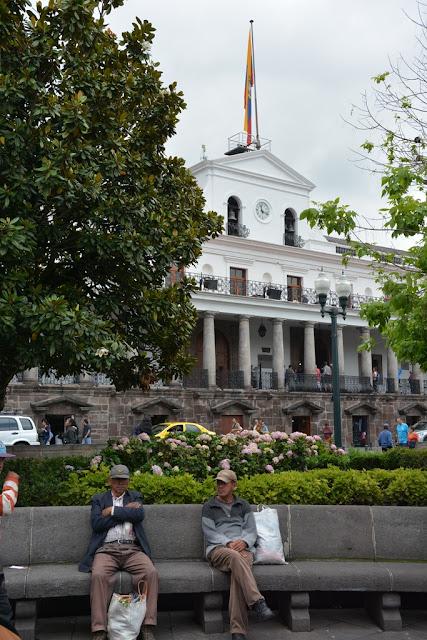 Main Square Quito parliament