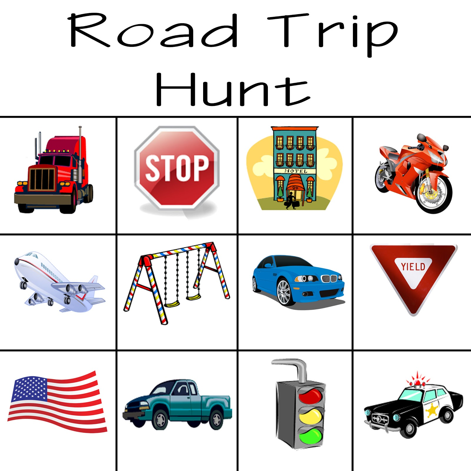 Road Trip: Kid's Summer Activity Printables