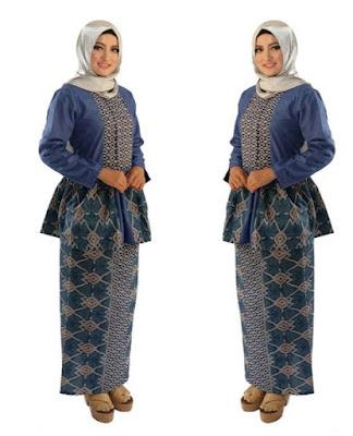 Model Baju Batik Wanita Gemuk4