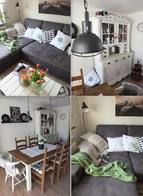 Deko und Inspiration aus dem Wohnzimmer: Geräumig und lichtdurchflutet ist es zu Hause bei Bloggerin Karina von Karinas Paradies