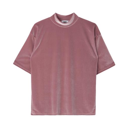 Velvety Mock Neck T-Shirt