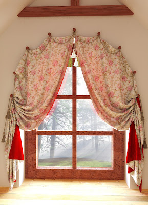 arch window curtains
