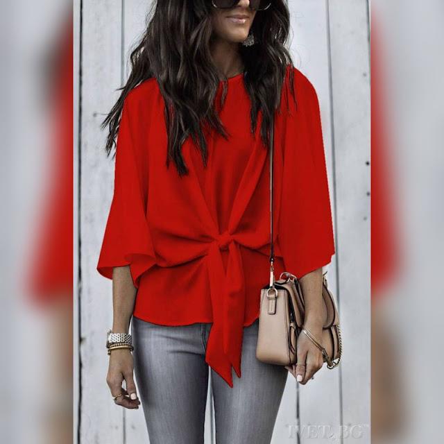 Γυναικεία κόκκινη μπλούζα SILENSA RED