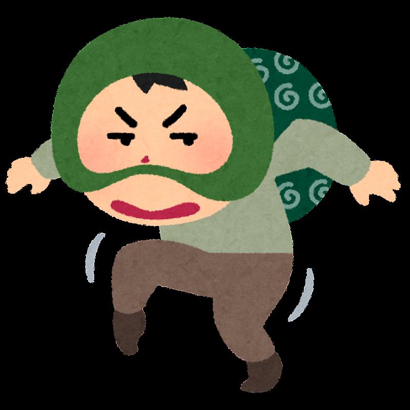 忍び足の泥棒のイラスト