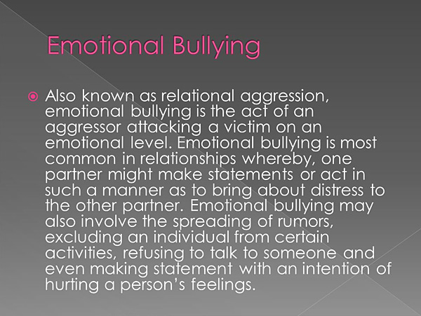 Psychological effects of bullying on children