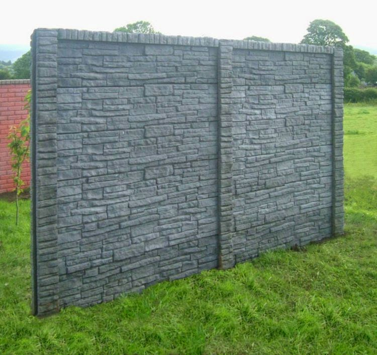 Stone Wall Panels Decorative : Decorative garden fence panels and walls with natural stone