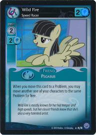 My Little Pony Wild Fire, Speed Racer Premiere CCG Card