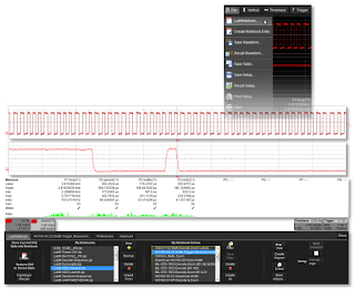 LabNotebook saves waveforms, setups, and annotated screen images for later reference