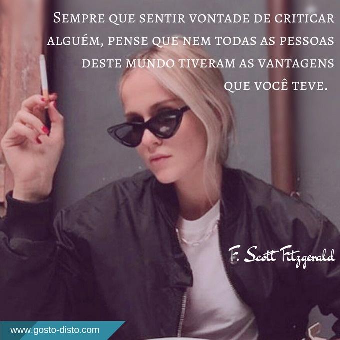 pensamento de F. Scott Fitzgerald