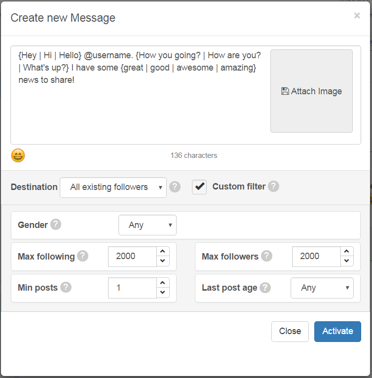 Automated Direct Messaging in Instagram