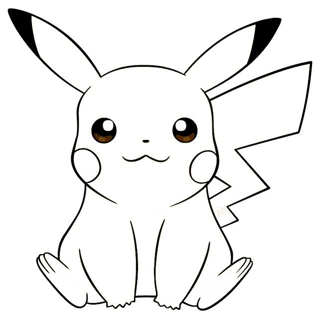 Gambar mewarna Picachu - Pokemon