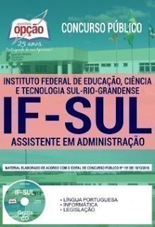 Baixar Apostila Concurso IFSul 2019 PDF