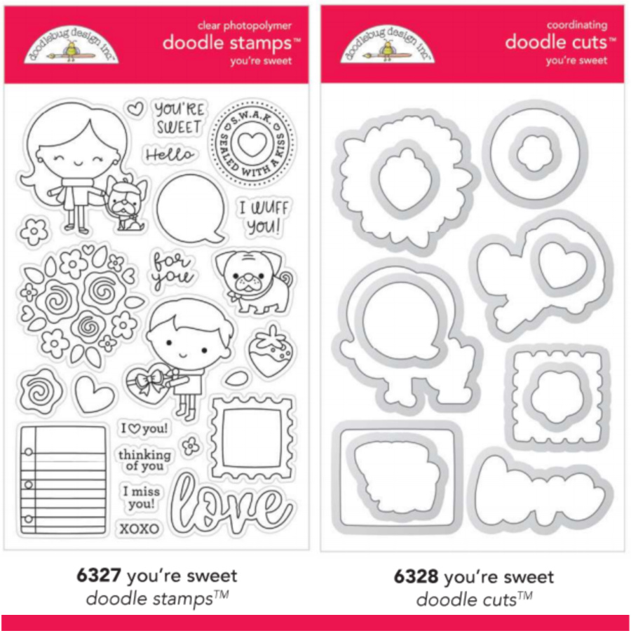 Doodlebug 6327 Love Clear Stamp Youre Sweet