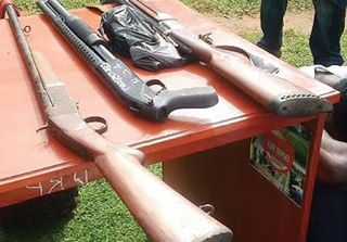 Photo: Police arrest 3 cultist lecturers of AAU, recover cache of firearms from professor