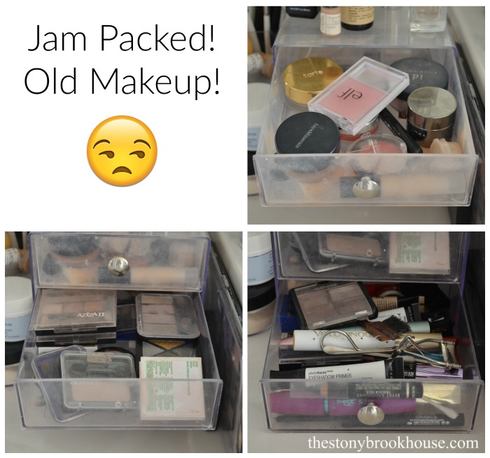 Jam Packed Old Makeup Mess