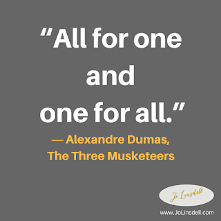 """All for one and one for all.""  ― Alexandre Dumas, The Three Musketeers #Quote"