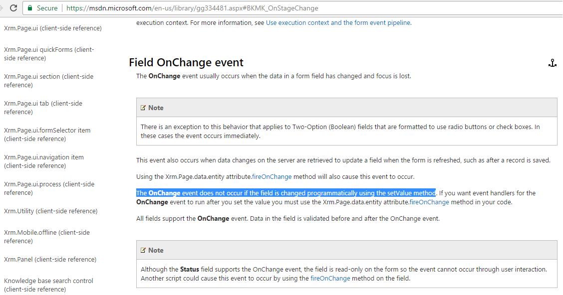 OnChange Javascript fires repeatedly / Recursive OnChange