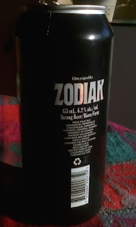 Zodiak beer can back