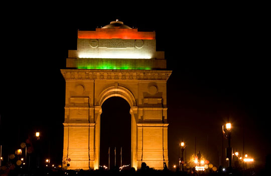Travel to the India Gate in New Delhi