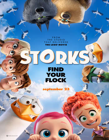 Poster Of Storks 2016 English 700MB HDTS x264 Free Download Watch Online downloadhub.net