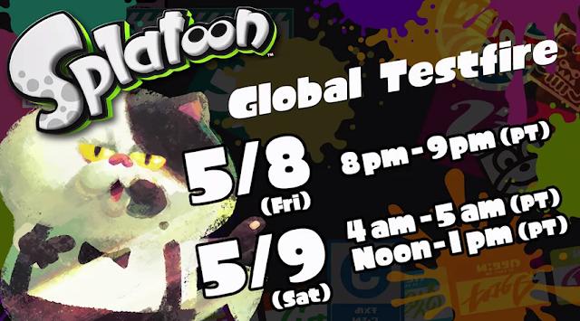 Splatoon Global Testfire times dates demo Wii U Direct