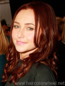 Mahogany brown hair color idea.