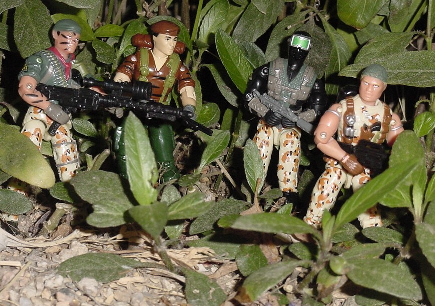 2004 Unproduced Caucasian Desert Patrol Stalker, TRU Exclusive, Midnight Chinese, Chinese Exclusive Flint, Tiger Force Falcon, Snake Eyes, Tunnel Rat