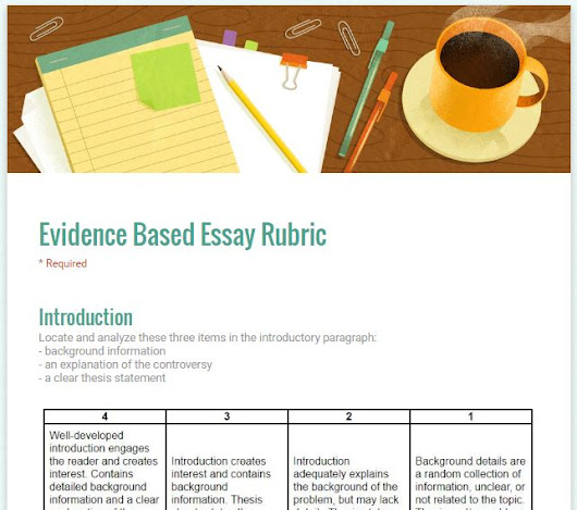Evidence Based Rubrics using Google Forms