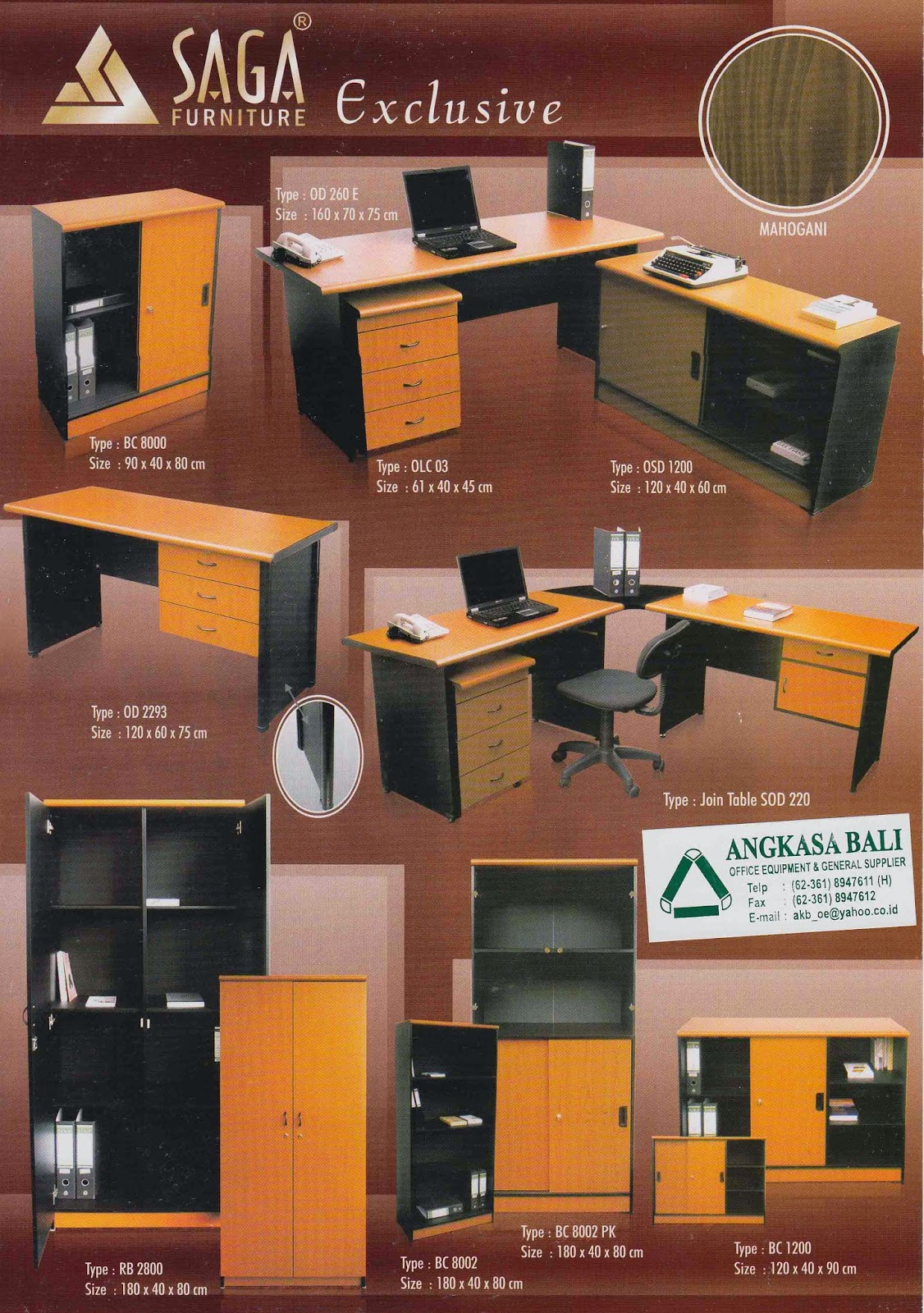 Jual Meja kantor di bali