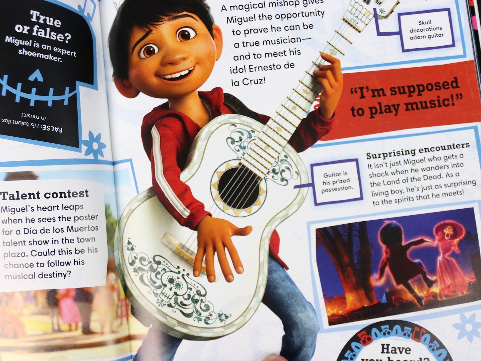 look inside the pixar coco essential guide book