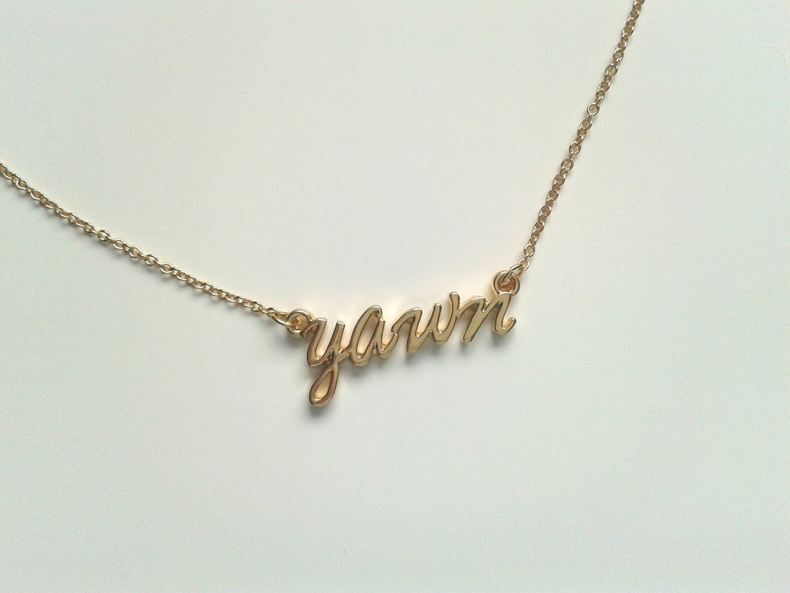 ASOS Yawn Necklace sale review