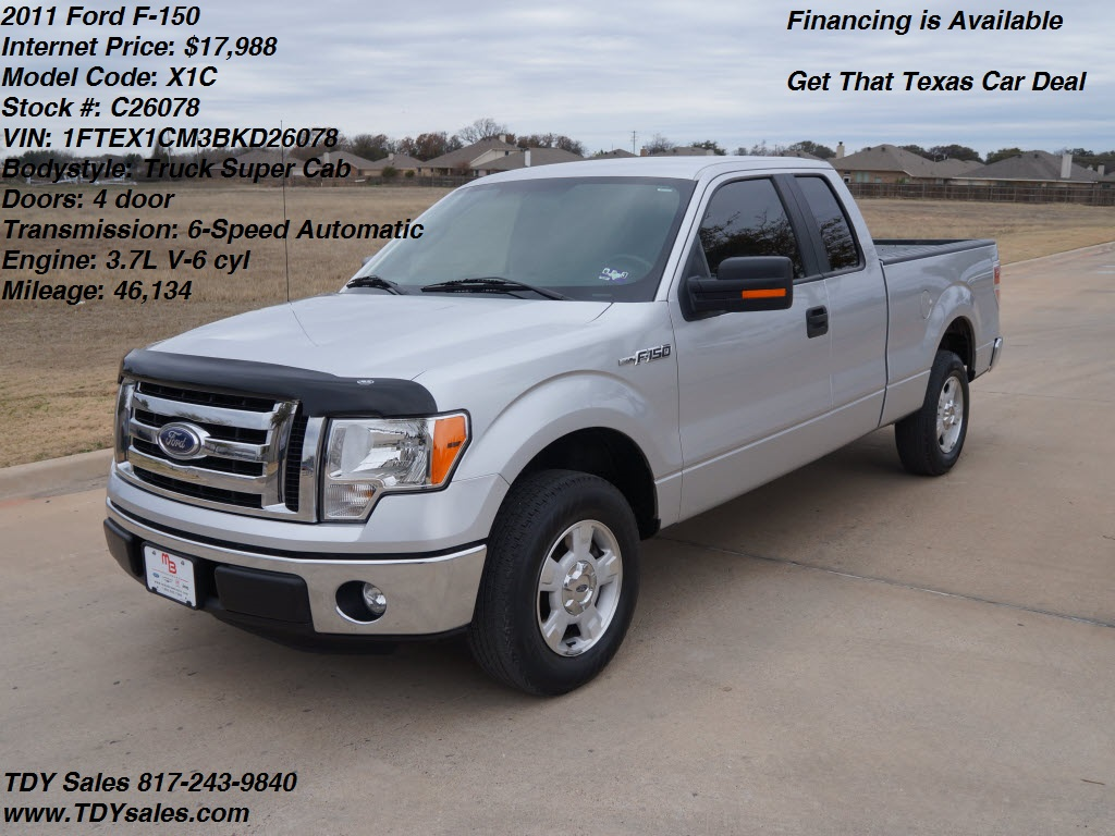 Ford Dealership Dallas >> For Sale - $17,988 - 2011 Ford F-150 Truck Super Cab ...