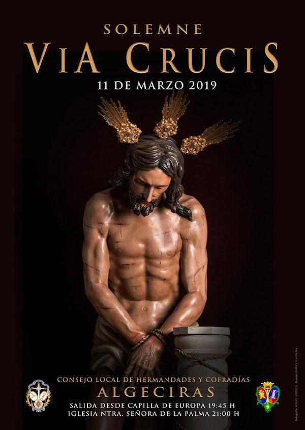 Cartel Via Crucis de Algeciras 2019