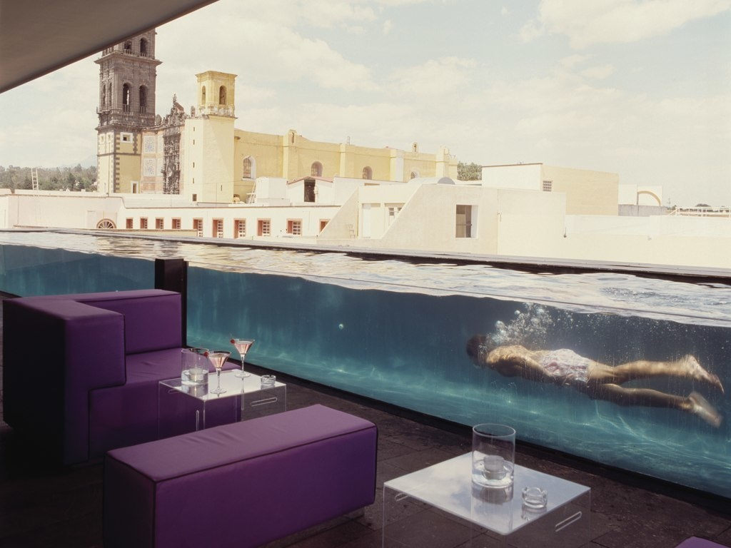 The World's 30 Best Rooftop Bars… Everyone Should Drink At #9 At Least Once. - La Purificadora hotel in Puebla, Mexico use to be a 19th century water purifying factory.